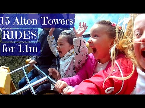 15 Alton Towers rides for those who are 1.1m or shorter