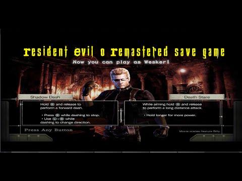 Resident Evil 0 Remastered save game download