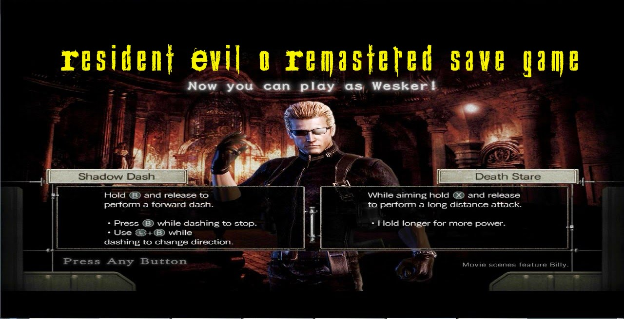 Resident Evil 0 Remastered save game download