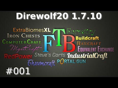 Minecraft FTB Direwolf20 #001 - 1.7 Modpack Start - Let´s Play FTB Direwolf20 | German