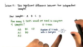 Number of t-Tests - Intro to Inferential Statistics