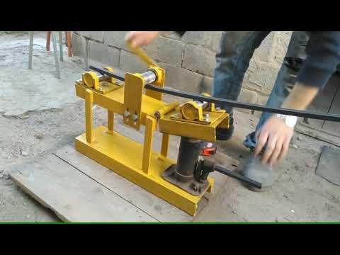Ручной станок для гибки профильной трубы своими руками чертежи