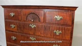 Chippendale Chest In Tiger Maple By Doucette And Wolfe Furniture Makers
