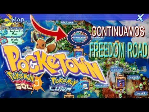 Pocketow/pokemon sol y luna/continuamos/Ruta Freedom Road/y posible juego nuevo