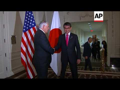 Tillerson meets Japanese Minister of Foreign Affairs