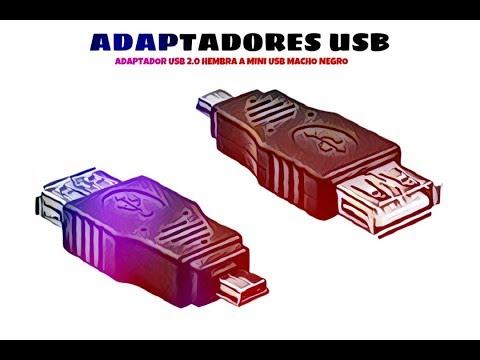 Video de Adaptador USB 2.0 hembra a mini USB macho  Negro