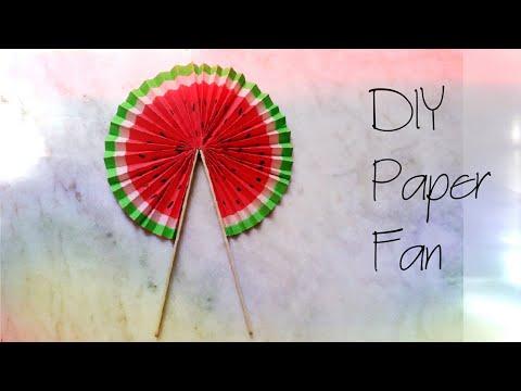 DIY paper pocket fan|summer special|how to make a fan|pocket dan making tutorial|easy paper fan||