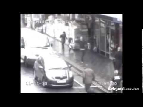 Bedford machete attack captured on CCTV
