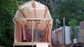 Construction of Project 'Mega Shed' Part 7: Building and Setting the Roof Trusses