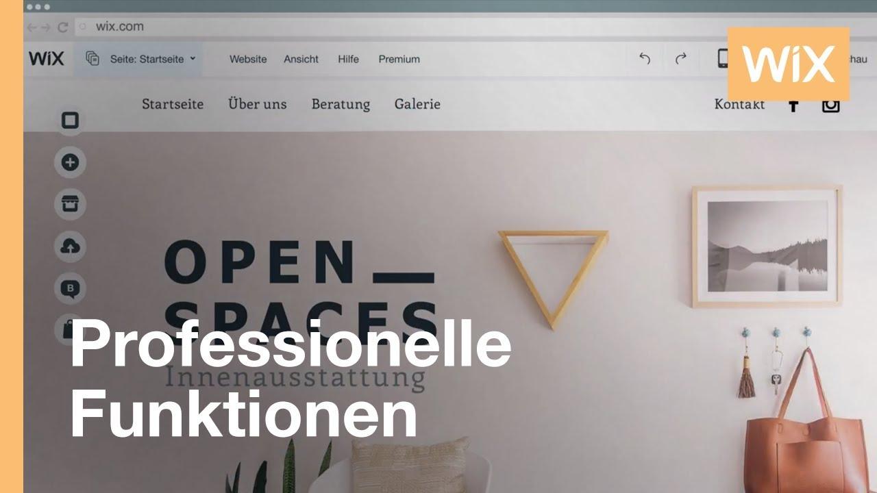 Kostenlose Website erstellen mit Wix.com - Homepage-Baukasten - YouTube