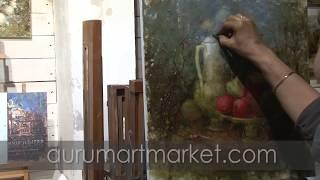 Видео урок живописи Красные стрекозы