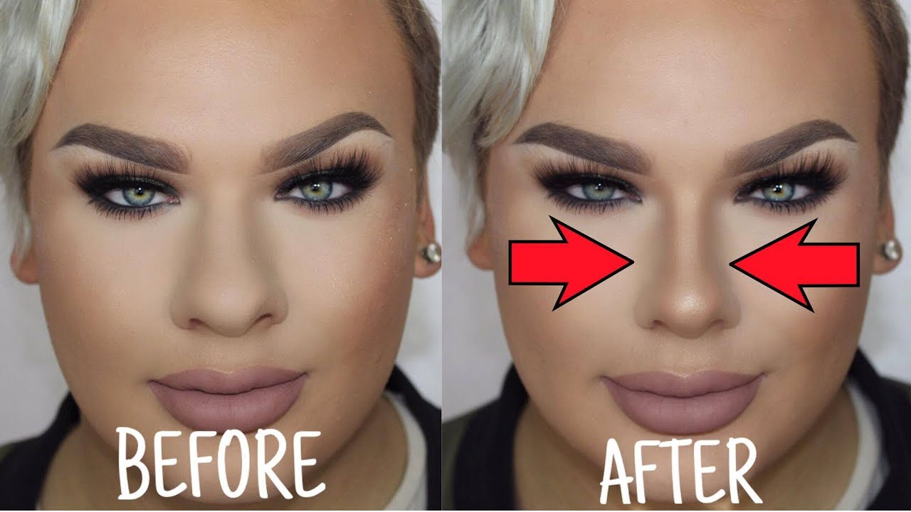 How To Make A Big Nose Look Small Nose Contouring Youtube