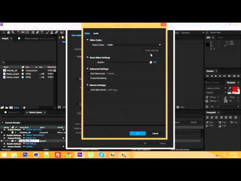 How to save Adobe After Effects CC as .mov (DOWNLOAD H.264 FOR AFTER EFFECTS CC)