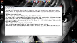 Hướng dẫn sử dụng TGP Tool giảm ping CFQQ