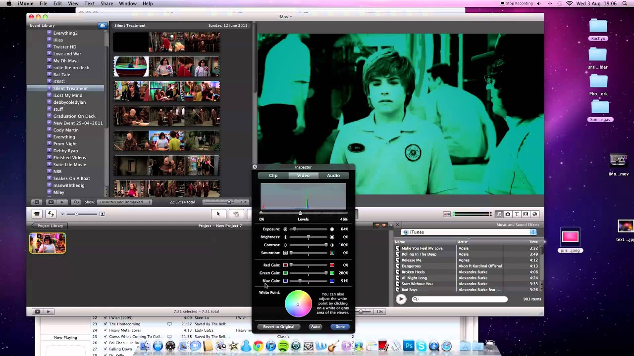 how to add a link in imovie