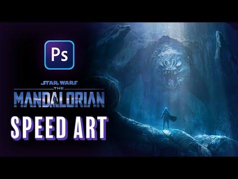 THIS IS NO CAVE! The Mandalorian Season 2 - Photoshop Speed Art