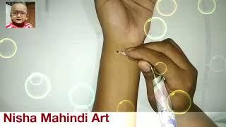 Butifull star tattoo mahindi designe new and latest