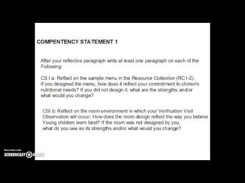 CDA Writing Competency Standard 1 YouTube
