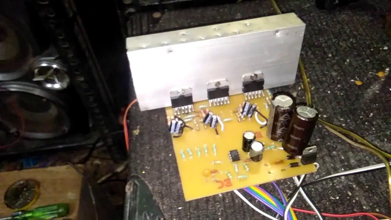 tda7265 5 1 hometheater circuit board testing youtube [ 1280 x 720 Pixel ]