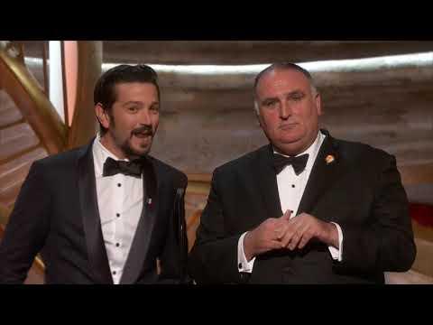 Discurso del chef José Andrés y Diego Luna en los Premios Oscar 2019