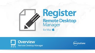 Register Remote Desktop Manager for Mac