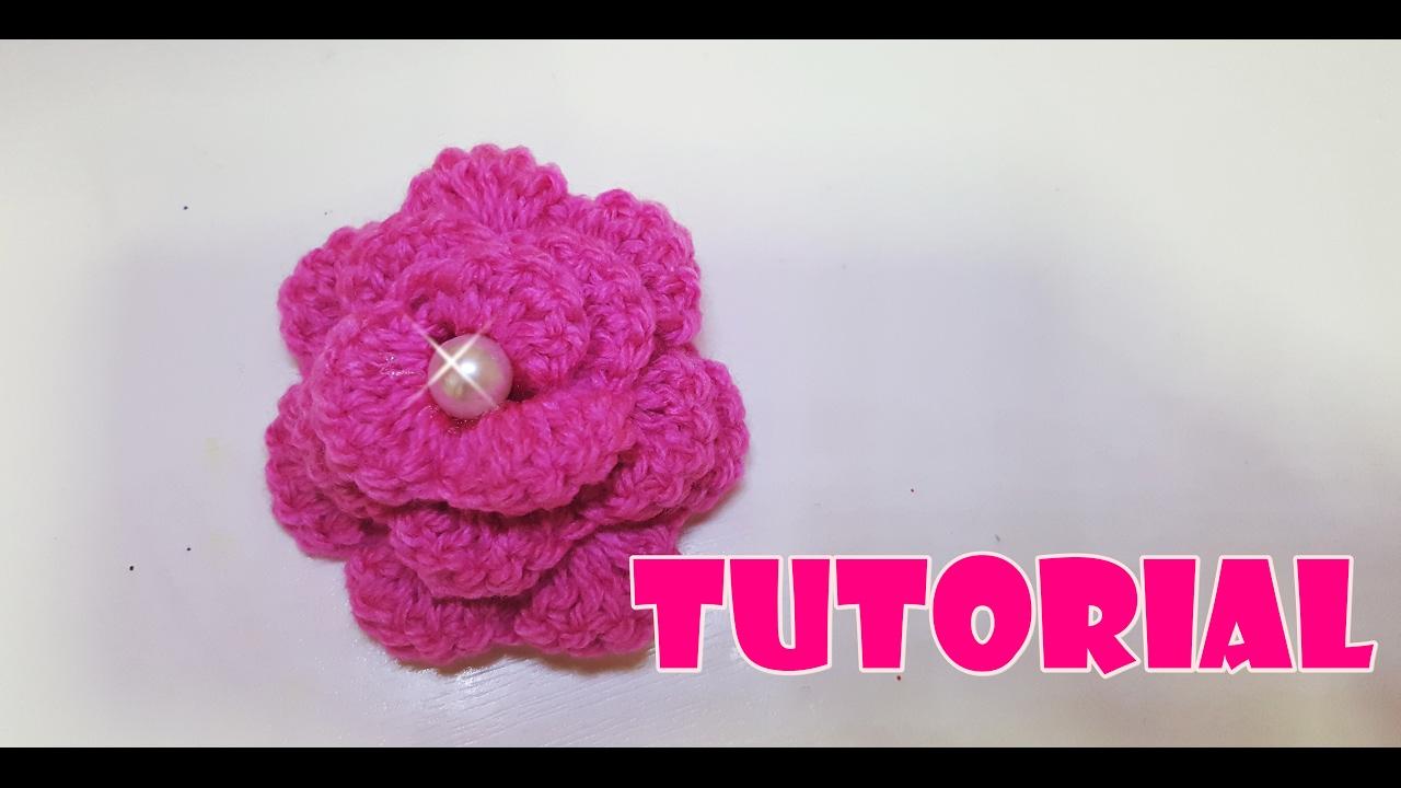 Fiori 3d Uncinetto.Tutorial Fiore 3d All Uncinetto 3d Crochet Flower Very Easy