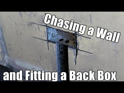 How To Chase A Wall And Fit A Metal Back Box Chasing A