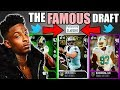 THE FAMOUS DRAFT! PLAYER WITH THE MOST TWITTER FOLLOWERS! Madden 18 Draft Champions