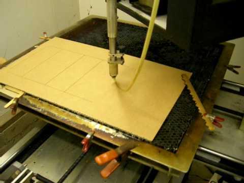 Co2 Laser Cutting Cardboard Box Youtube