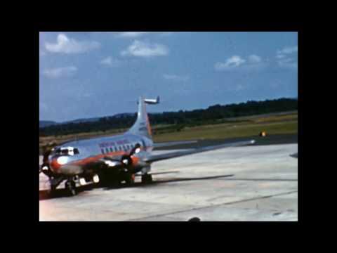 United DC-6 at Bradley Airport (BDL) 1955