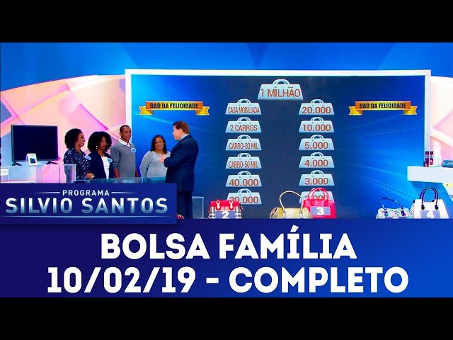 Bolsa Família - Completo | Programa Silvio Santos (10/02/19)