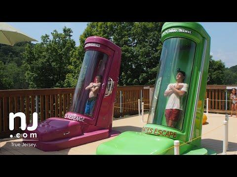 Dual Body Slide Racing At Pirate's Cove Waterpark In Hope
