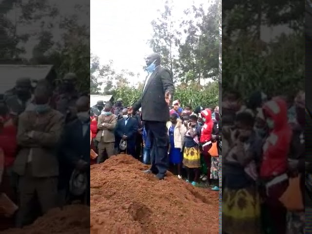 Haron Preaching at Neighbours Wife's Funeral 7 27 2020