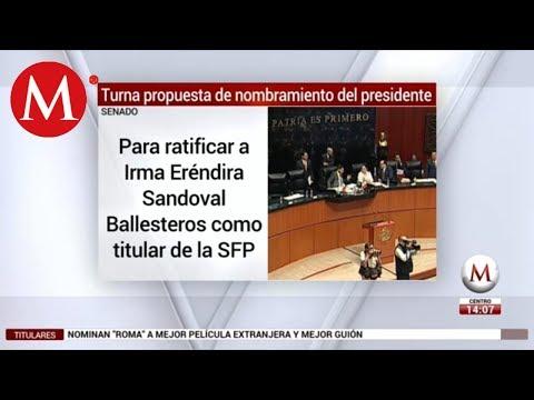 AMLO envía nombramiento de Eréndira Sandoval al Senado para ratificación
