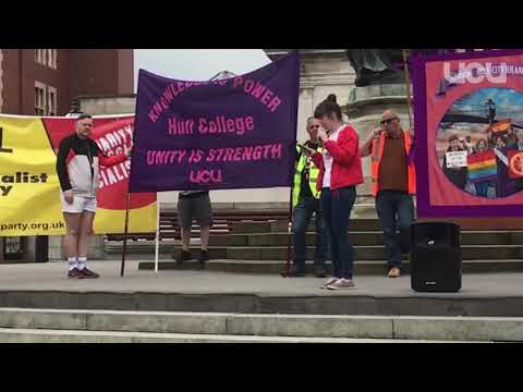 Hull & Distict Trades Council Rally - Hull College student Rachel