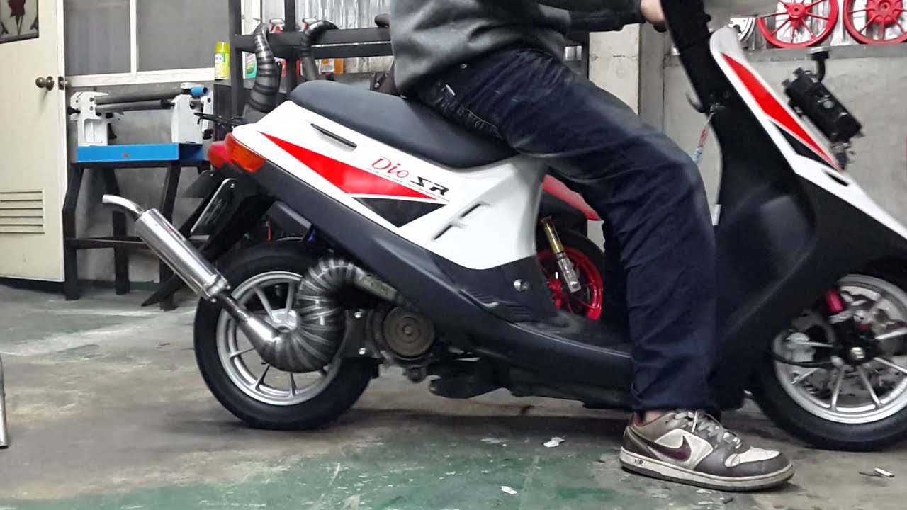 Honda Dio S Type Exhaust Test 1 Yfis From Taiwan Youtube