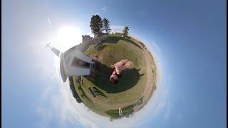 Панорамное видео 360 Путешествие из Линкольна в географический центр 48-ми штатов США.