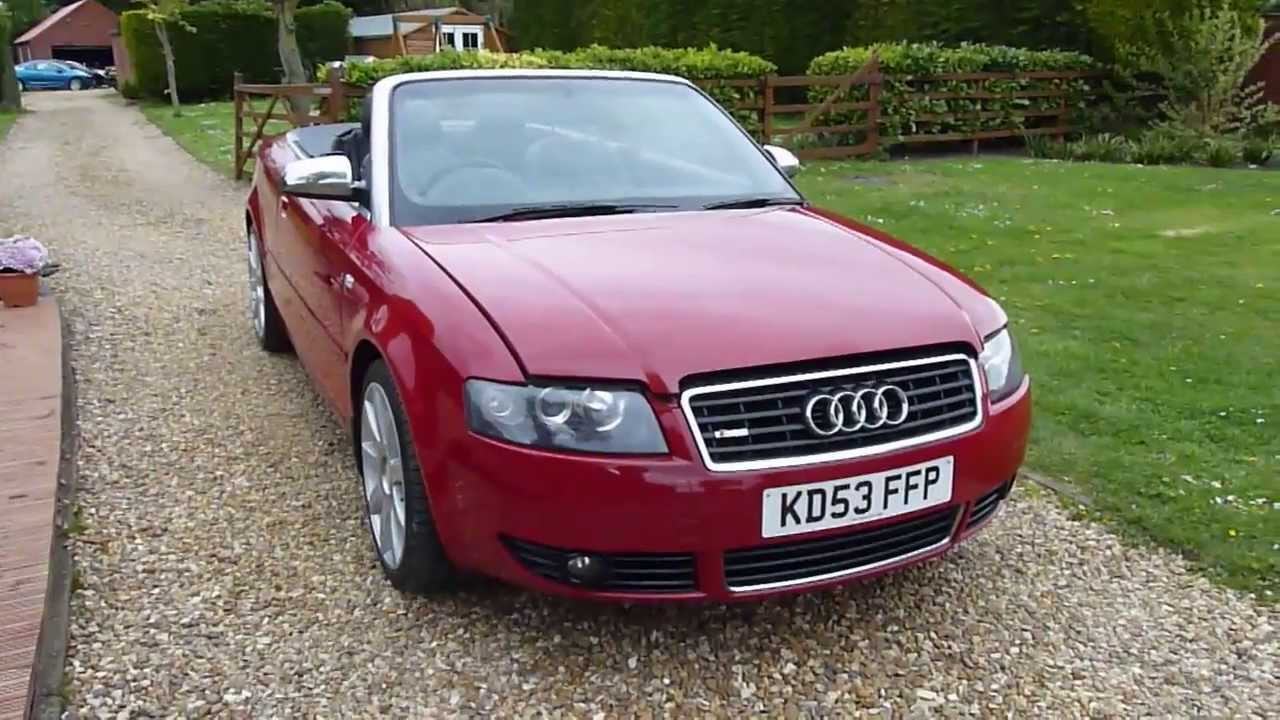 Review Of 2003 Audi A4 1 8 T Convertible For Sdsc Specialist Cars Cambridge