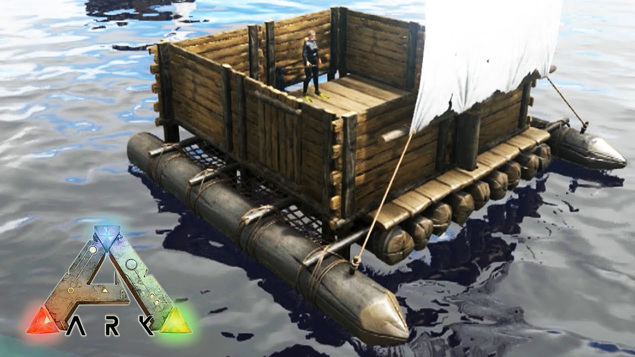 Nuevo super barco con casa ark survival evolved 63 for Barcitos de madera para casa