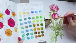 Sennelier Botanical Watercolour Set Update + Billy Showell Floral Illustration