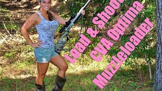 HOW to LOAD and SHOOT CVA OPTIMA MUZZLELOADER! GIRLS first time;)