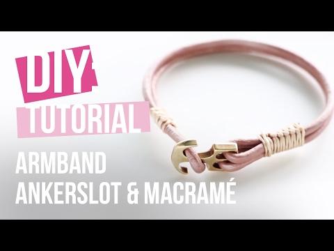 Sieraden maken: Armband met ankerslot & Macramé ♡ DIY