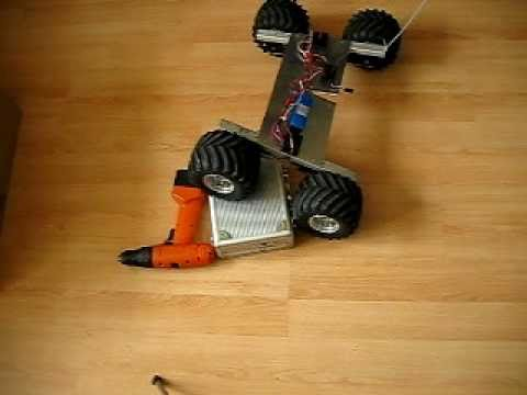 RC Robot Rover crawler with 4 independent geared motors