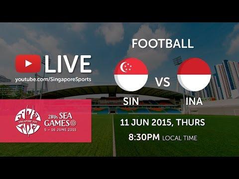 Football Singapore vs Indonesia (Jalan Besar Stadium Day 5) | 28th SEA Games Singapore 2015