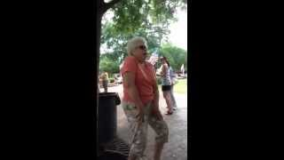 After a hour long concert in the park, this 70 year old grandmother...