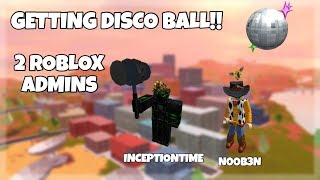 PLAYING MIT ZWEI ROBLOX ADMINS! + IMMER DISCO-BALL-HELM! Roblox