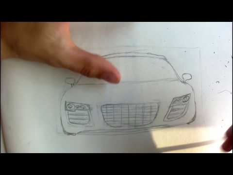 How to draw a car #2 (Front of Audi R8)