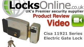 Cisa 11921 Electric Door   Gate Lock   Locksonline Product Review Video