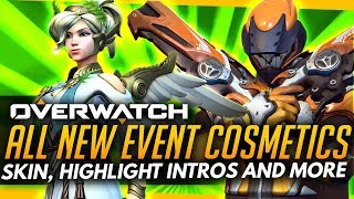 Overwatch | ALL NEW COSMETICS - SUMMER GAMES 2017 (Skins, Intros & More) 2017 Video