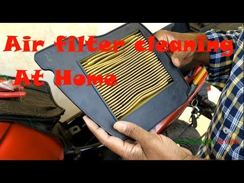 air filter cleaning in bike in Hindi /Yamaha FZ air filter cleaning /Fazer air filter cleaning